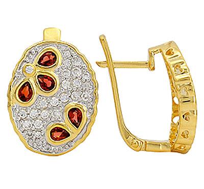 Серебряные серьги Ювелирное изделие 70896