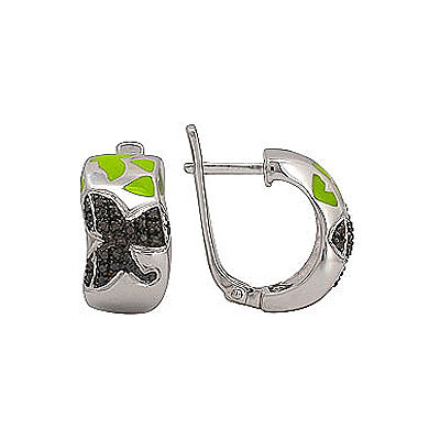 Серебряные серьги Ювелирное изделие 70908