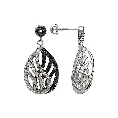Серебряные серьги Ювелирное изделие 74993 серебряные серьги ювелирное изделие 70896