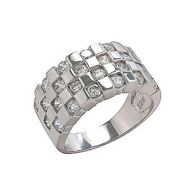 Серебряное кольцо Ювелирное изделие 75052 ювелирное изделие 127140