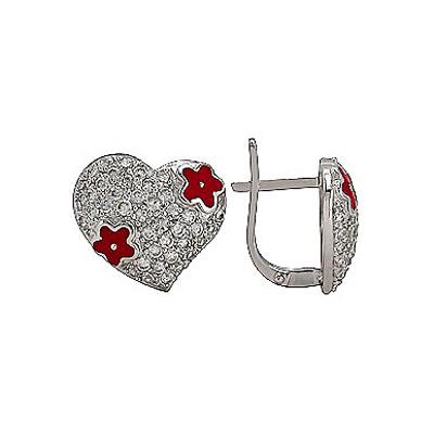 Серебряные серьги Ювелирное изделие 75205 серебряные серьги ювелирное изделие 74993