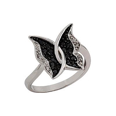 Золотое кольцо Ювелирное изделие 76333 кольцо jv женское золотое кольцо с бриллиантами и ониксами r21180 ox wg 18
