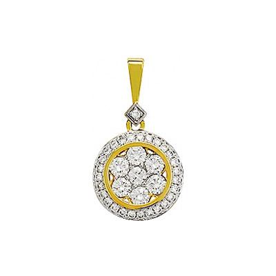 Золотой подвес Ювелирное изделие 76641 серебряный подвес ювелирное изделие wbl 7 27 7 07
