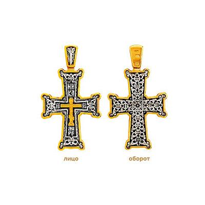 Серебряный крест Ювелирное изделие 77816