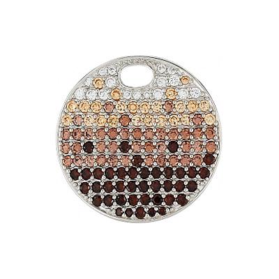 Серебряный подвес Ювелирное изделие 80487 серебряный подвес ювелирное изделие 98052
