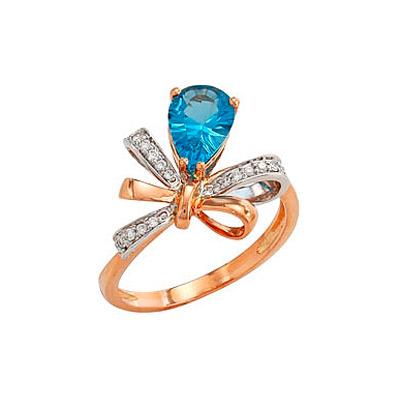 Золотое кольцо Ювелирное изделие 80663 кольцо эстет женское золотое кольцо с куб циркониями nd1141393 17