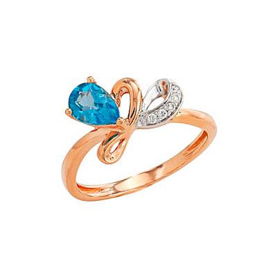 Золотое кольцо Ювелирное изделие 80674 кольцо алмаз холдинг женское золотое кольцо с бриллиантами и рубином alm13237661 19