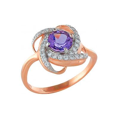 Золотое кольцо Ювелирное изделие 81282 кольцо jv женское золотое кольцо с аметистом и бриллиантами r13115 ga yg 16
