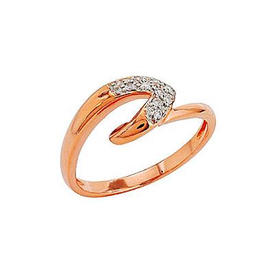 Золотое кольцо Ювелирное изделие 81894 кольцо алмаз холдинг женское золотое кольцо с бриллиантами и рубином alm13237661 19