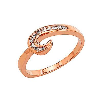 Золотое кольцо Ювелирное изделие 81896 кольцо алмаз холдинг женское золотое кольцо с куб циркониями alm1200203515л 18 5