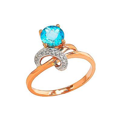 Золотое кольцо Ювелирное изделие 82209 кольцо jv женское золотое кольцо с бриллиантами раухтопазами и цитринами r1280p82d m ct1 ct sq yg 17 5