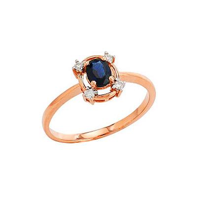 Золотое кольцо  Ювелирное изделие 82211