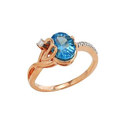 Золотое кольцо Ювелирное изделие 82242 кольцо алмаз холдинг женское золотое кольцо с бриллиантами и рубином alm13237661 19