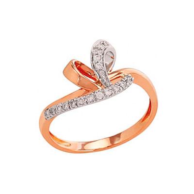 Золотое кольцо Ювелирное изделие 82255 кольцо алмаз холдинг женское золотое кольцо с куб циркониями alm1200203515л 18 5