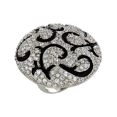 Серебряное кольцо Ювелирное изделие 82623 позолоченное серебряное кольцо с фианитом кошка с 10550 ж
