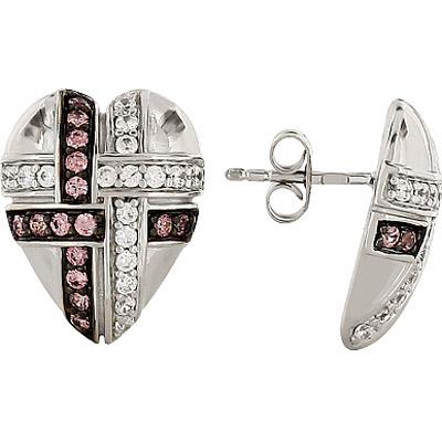 Серебряные серьги Ювелирное изделие 82857 серебряные серьги ювелирное изделие 70896