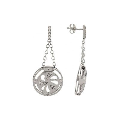 Серебряные серьги Ювелирное изделие 82887 серебряные серьги ювелирное изделие np3832