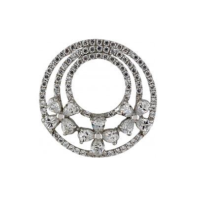 Серебряный подвес Ювелирное изделие 83180 серебряный подвес ювелирное изделие 127709