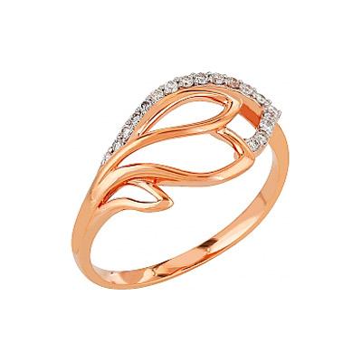 Золотое кольцо Ювелирное изделие 84932 кольцо алмаз холдинг женское золотое кольцо с куб циркониями alm1200203515л 18 5