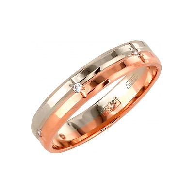 Золотое кольцо Ювелирное изделие 85853 обручальное кольцо korloff золотое обручальное кольцо k9hl07pg 17 5