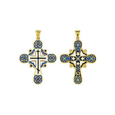 цены на Серебряный крест Ювелирное изделие 85875 в интернет-магазинах