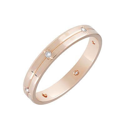 Золотое кольцо Ювелирное изделие 86041 обручальное кольцо korloff золотое обручальное кольцо k9hl07pg 17 5