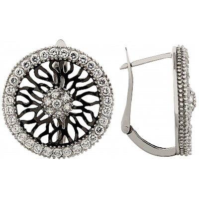 Серебряные серьги Ювелирное изделие 95165 ювелирное изделие 01c614076