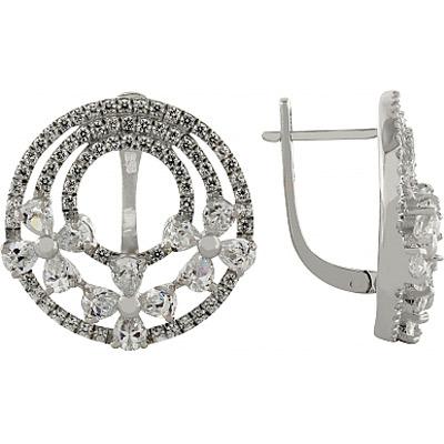 Серебряные серьги Ювелирное изделие 95780 ювелирное изделие 01c614076