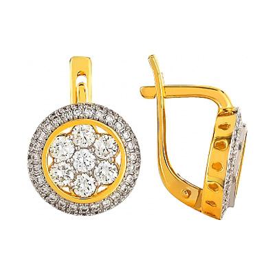 Золотые серьги Ювелирное изделие 96172 серьги кюп золотые серьги с бриллиантами alm1006111733