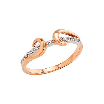 Золотое кольцо Ювелирное изделие 96305 кольцо алмаз холдинг женское золотое кольцо с бриллиантами и рубином alm13237661 19
