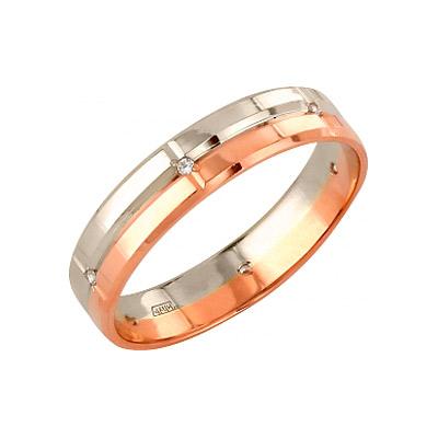 Золотое кольцо Ювелирное изделие 96480 обручальное кольцо korloff золотое обручальное кольцо k9hl07pg 17 5