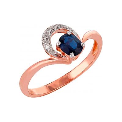 Золотое кольцо Ювелирное изделие 98143 кольцо алмаз холдинг женское золотое кольцо с куб циркониями alm1200203515л 18 5