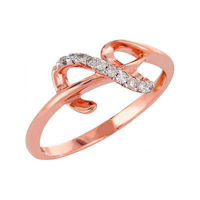 Золотое кольцо Ювелирное изделие 98162 кольцо алмаз холдинг женское золотое кольцо с бриллиантами и рубином alm13237661 19