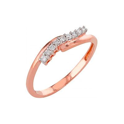 Золотое кольцо Ювелирное изделие 98164 кольцо алмаз холдинг женское золотое кольцо с бриллиантами и рубином alm13237661 19