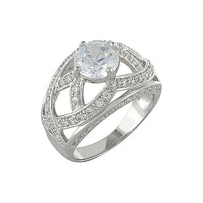Серебряное кольцо Ювелирное изделие 99893 серебряное кольцо ювелирное изделие 75161