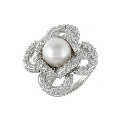 Серебряное кольцо Ювелирное изделие 99942 кольца колечки кольцо краса имитация коралла