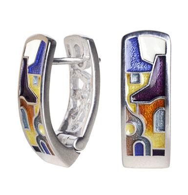Серебряные серьги Ювелирное изделие de17