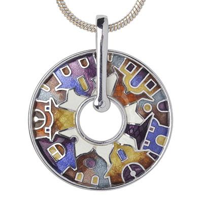 Серебряный подвес Ювелирное изделие dp17 магия золота серебряный кулон с имитац корунда куб циркониями и эмалью mg99891z en