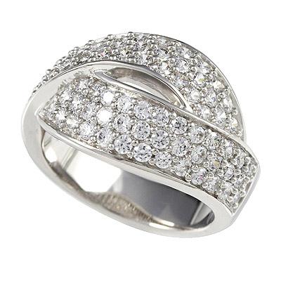 Серебряное кольцо Ювелирное изделие M0361R_90_03 кольцо серебро куб цирконий