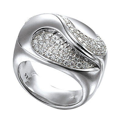Серебряное кольцо Ювелирное изделие M0526R_90_03 кольцо серебро куб цирконий