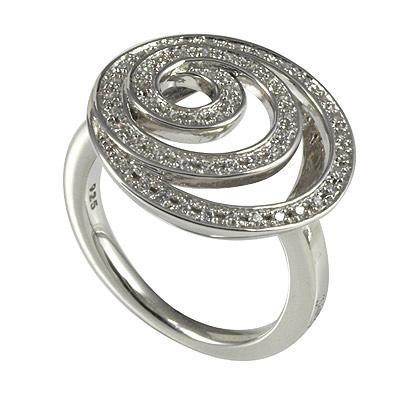 Серебряное кольцо Ювелирное изделие M0585R_90_03 кольцо серебро куб цирконий