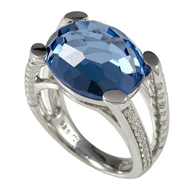 Серебряное кольцо Ювелирное изделие M0595R_90_77 кольцо серебро куб цирконий