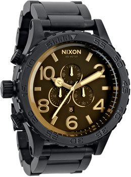 Nixon Часы Nixon A083-1354. Коллекция 51-30 Chrono часы nixon time teller deluxe leather navy sunray brow