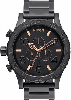 Nixon Часы Nixon A083-957. Коллекция 51-30 Chrono часы nixon time teller deluxe leather navy sunray brow