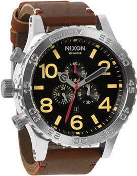 Nixon Часы Nixon A124-019. Коллекция 51-30 Chrono часы nixon time teller deluxe leather navy sunray brow
