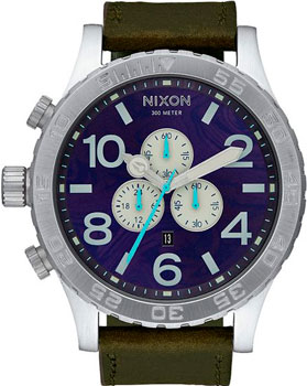 Nixon Часы Nixon A124-2302. Коллекция 51-30 Chrono часы nixon time teller deluxe leather navy sunray brow