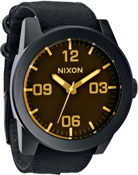 Nixon Часы Nixon A243-1354. Коллекция Corporal часы nixon time teller deluxe leather navy sunray brow