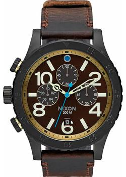 Nixon Часы Nixon A363-2209. Коллекция 48-20 Chrono часы nixon ranger 45 leather black red