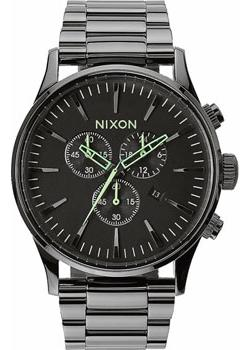 Nixon Часы Nixon A386-1885. Коллекция Sentry часы nixon time teller deluxe leather navy sunray brow