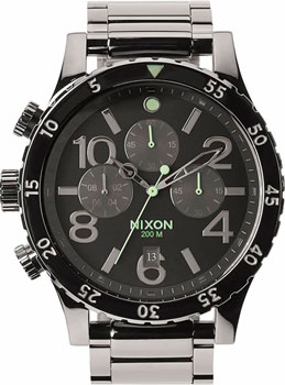 Nixon Часы Nixon A486-1885. Коллекция 48-20 Chrono часы nixon time teller deluxe leather navy sunray brow